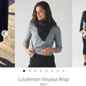 Lululemon NWOT black vinyasa wrap